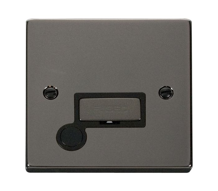 Deco 13A Fused Ingot Spur Black Victorian Stainless Steel