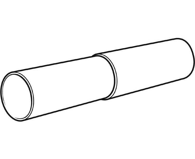 telescopic pipe assembly 125mm 250 to 450mm