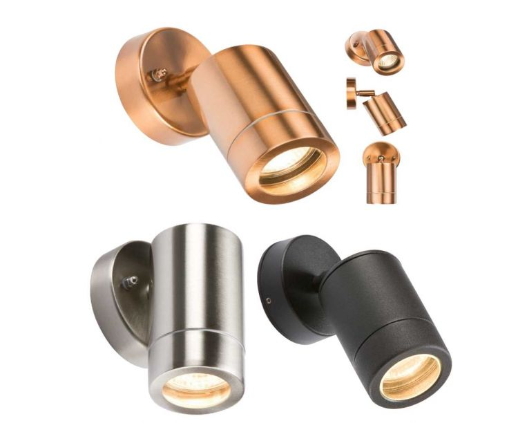 Up and Down Light GU10 IP65 Black Knightsbridge Stainless Steel,Copper Colour
