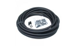 25mm Contractor Pack Flexible Conduit 10M Black with Glands