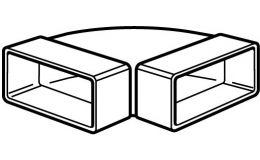 Domus System100 Horizontal 90 deg Bend