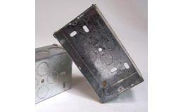 2 Gang 47mm Steel Galvanised KO Box