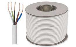 White PVC Flexible Cable 3185Y 5 core 1.0mm (50 metre rolls)