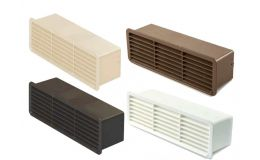 Domus Horizontal Airbrick with Damper For Supertube 125 Flat Duct
