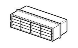 Domus Horizontal Louvred Airbrick For Supertube 125 Flat Duct