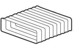Supertube 125 Rectangular PVC Hose 206 x 60mm 0.5 metre