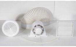 Airflow Aura AUSHWKT 100mm Inline Shower Bathroom Extractor Fan