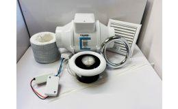 Blauberg Turbo Shower Timer Fan LED Light Kit 100mm