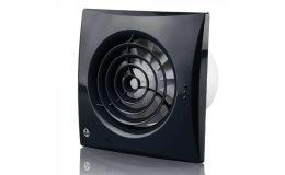 Blauberg Black Calm Quiet Pullcord Timer Fan 100mm IP45