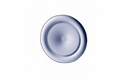 100mm steel air valve white