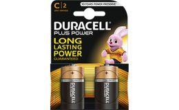 Duracell Plus C Alkaline Battery Pack 2 Batteries