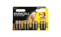 Duracell Plus AA Alkaline Battery Pack 8 Batteries