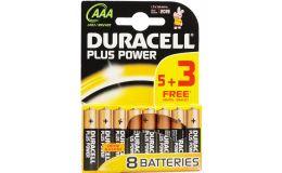 Duracell Plus AAA Alkaline Battery Pack 8 Batteries