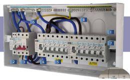 Europa Consumer Unit 16W 100A Switch 2x80A RCCB 8 MCBs