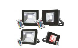 Knightsbridge RGB LED Colour Changing Floodlights IP65 with Remote Control