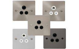 Click Define Flat 5A Round Pin Socket Outlets