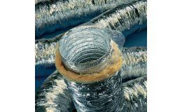 355mm aluminium acoustic flexible duct 10m