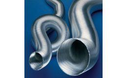 Aluminium semi-rigid ducting 500mm x 3m length