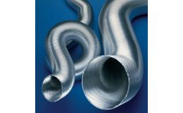 Aluminium semi-rigid ducting 300mm x 3m length