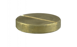 20mm Brass Slotted Plug