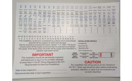 Hager Spare Label Set for SPN Consumer Units