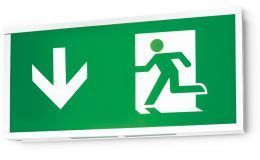 JCC LED Exit Box T5 Retro Fit Emergency Fitting and Legends