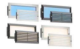 Knightsbridge 230v IP54 LED Brick Light Black or St/ Steel fascias