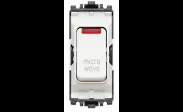 MK Grid Plus Switch 20A DP Neon Printed microwave