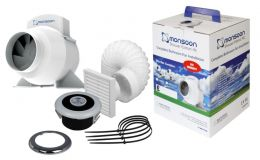 Monsoon Turbo Showerlite LED Fan Kit 100mm
