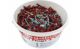 Mega Bucket 500 Red Plugs & Screws
