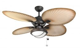 Fantasia Palm Chocolate Brown Ceiling Fan 52in With Light