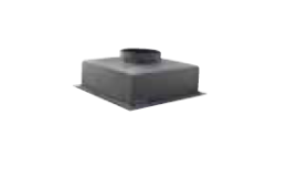 """Grille Box Adaptor Top Entry 10"""" x 10"""" x 5"""" Plastic"""