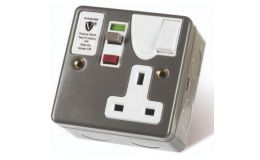 Timeguard Passive Single RCD Metal Switched Socket