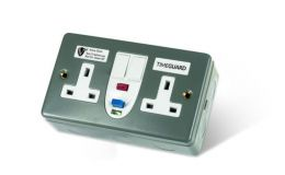 Timeguard RCD Double Metal Socket Active Switched