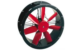 Compact Cased Axial Fan Single Phase 4 Pole 250mm (1,250m3/hr)