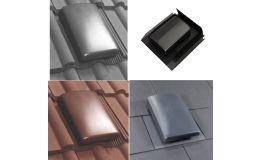 Verplas Tile / Slate Roof Ventilator & Adaptor 150mm Dia C/W Connector