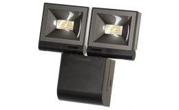 Timeguard 2x 10W LED Compact Floodlight Twin Flood Black