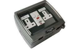 Timeguard Weathersafe Vision Twin Gang 13A Switched Passive RCD Socket