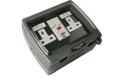 Timeguard Weathersafe Vision Twin Gang 13A Switched Active RCD Socket