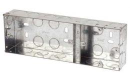 2+1 Gang 35mm Metal KO Flush Box