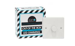 Zano Controls 1 Gang LED White Plated Dimmer 0-150W