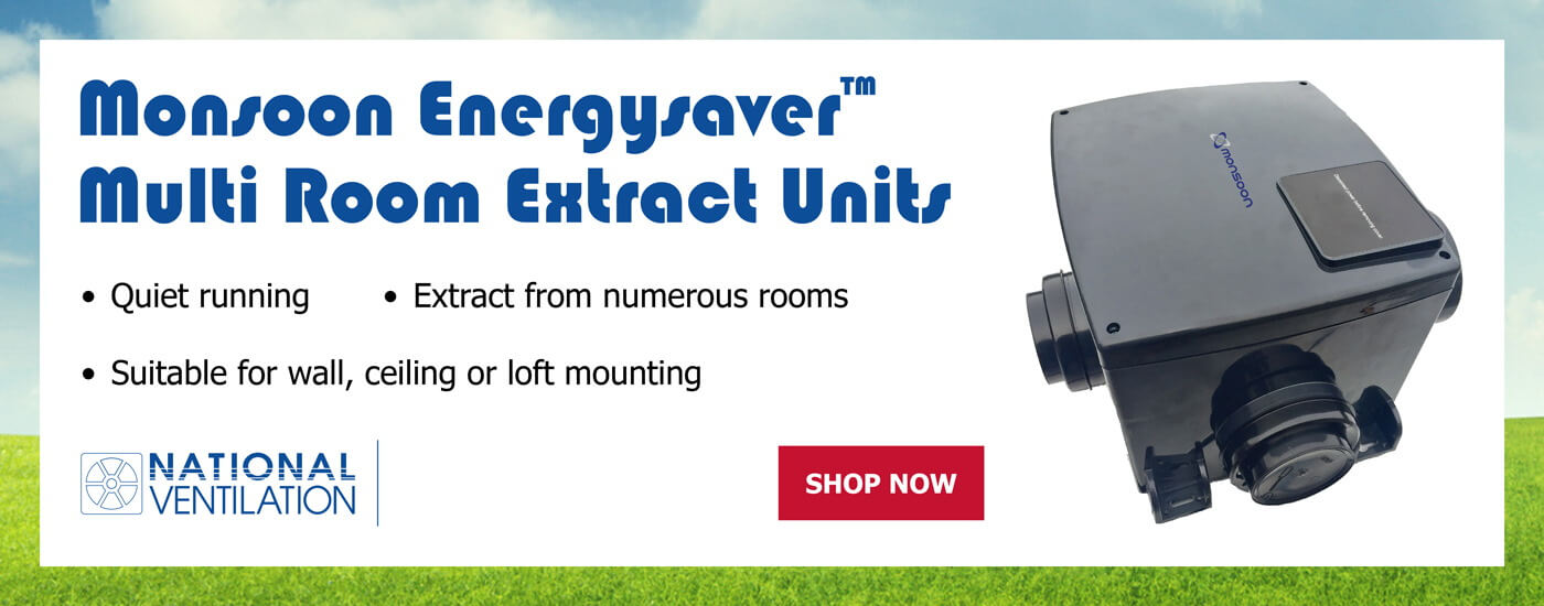 Monsoon MEV Energysaver Multi-Room Extractor Fan Unit